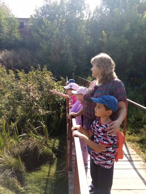 Экскурсия на пруд